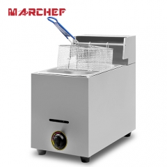 MARCHEF Single Tank Tabletop Commercial Gas Fryer with CE